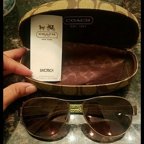 80587e92fa shopping coach charity aviator sunglasses 43561 0b23c